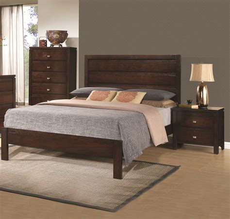 solid wood contemporary bedroom furniture camarillo collection 3 piece rich brown solid wood bedroom