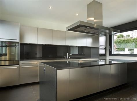 Awesome Stainless Steel Kitchens Cabinets #5: Kitchen-cabinets-modern-stainless-steel-003-s42867379x2-island-hood.jpg