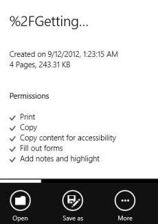 Reader: Windows 8 PDF Reader App