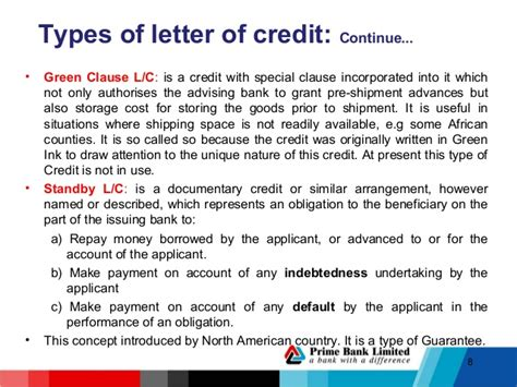 Credit Letter Types Lc Procedure Hrtdc 1