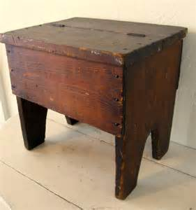 shoe shine bench antique rustic footstool bench shoe shine box combo