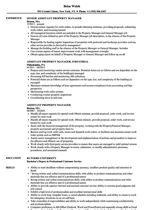 vibrant property manager resume sample 10 assistant property