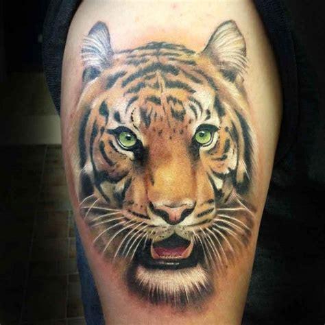 tiger head tattoo realistic tiger on foot tomi