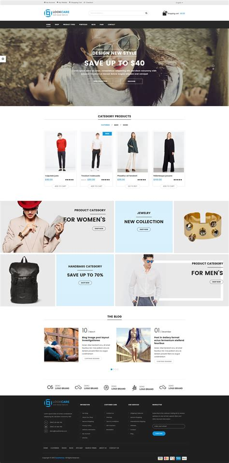 clothing themes wordpress lookcare responsive fashion wordpress theme by