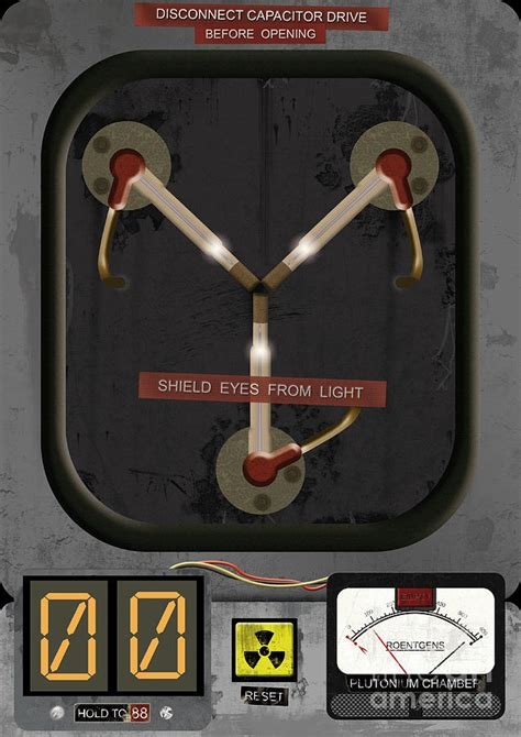 digital flux capacitor back to the future flux capacitor print digital by pete wardley