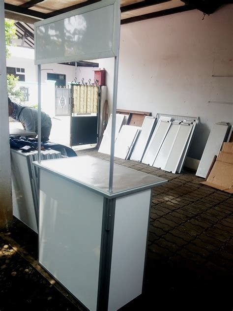 booth portable meja portable both knock