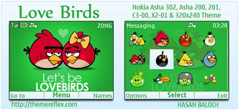 themes c3 love angry birds in nokia themereflex