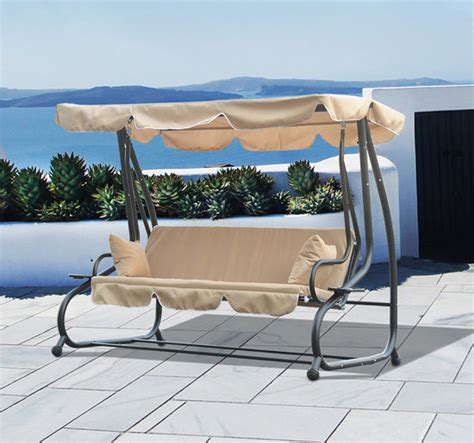 person swinging 3 person outdoor swing seat patio hammock furniture bench