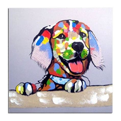 Handmade Artists - labrador puppy painting canvas handmade contemporary