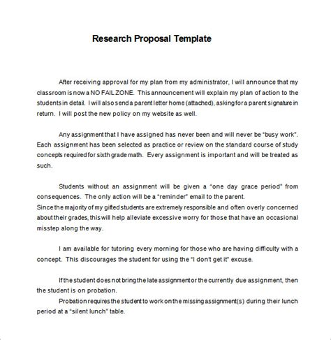 Sample Research Proposal Outline Template