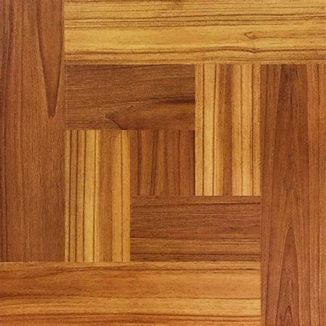 trafficmaster 12 in x 12 in brown wood parquet peel and