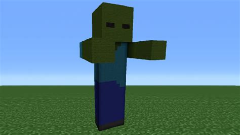 Minecraft Tutorial Zombie Statue | minecraft tutorial how to make a zombie statue youtube