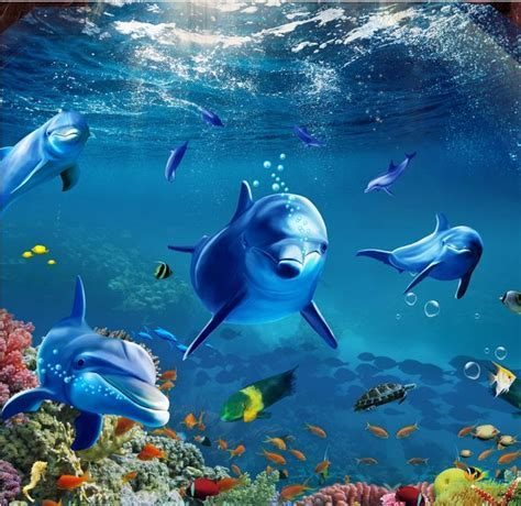 Online Buy Wholesale dolphin wall paper from China dolphin