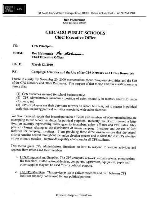 Memo Exles To Teachers Pact Brings Amendment Rights Back To Ctu Members