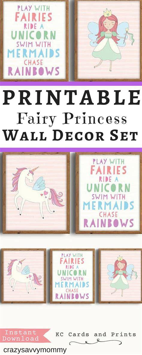 free printable princess wall art only 7 00 set of 3 printable fairy princess wall decor
