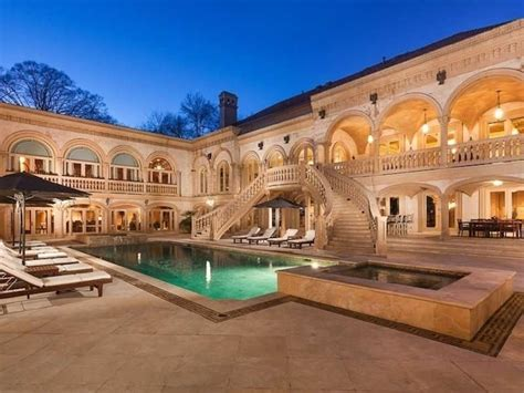 Buckhead Luxury Homes A Luxurious Mediterranean Estate In Buckhead Atlanta