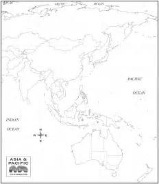 Outline Map Of Pacific by Free Map Of Asia Oceania