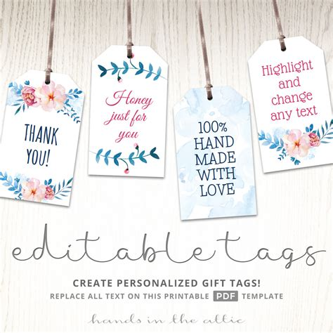 printable wedding shower gift tags floral bridal shower gift tags editable party tags