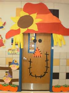 classroom fall door decorations scarecrow fall classroom door decoration