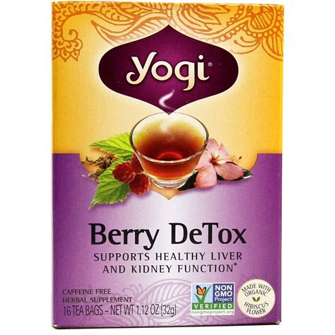 Yogi Berry Detox Caffeine by Yogi Tea Organic Teas Blend Detox Berry 16 Bags