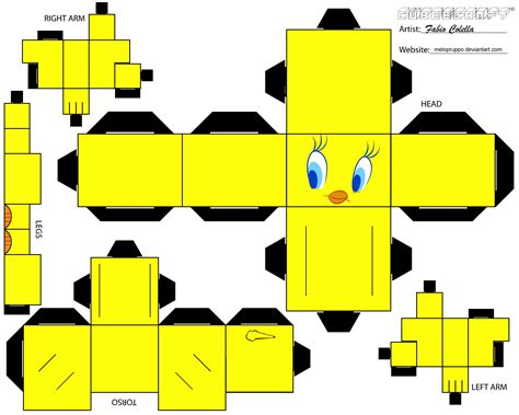 Papercraft Cubeecraft - piolin cubeecraft minions and search