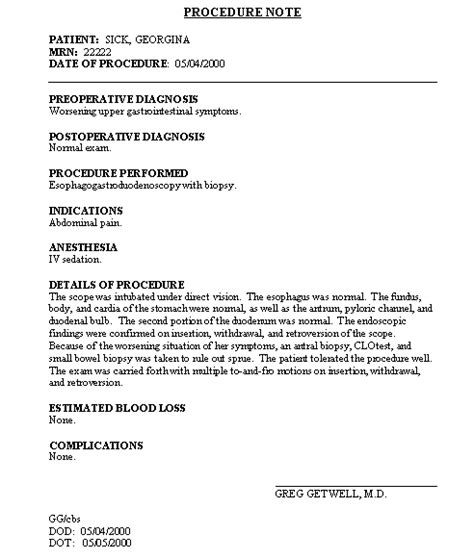 surgery note template cbayscribe standard formats