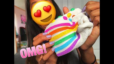 Squishy Rainbow Squishy Es Krim Squishy chawa rainbow cake silly squishies package
