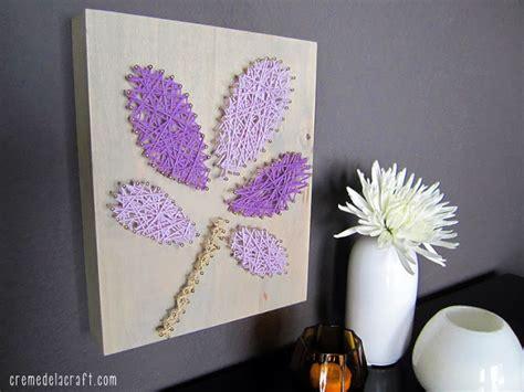 diy wall art from yarn nails diy wall art from yarn nails