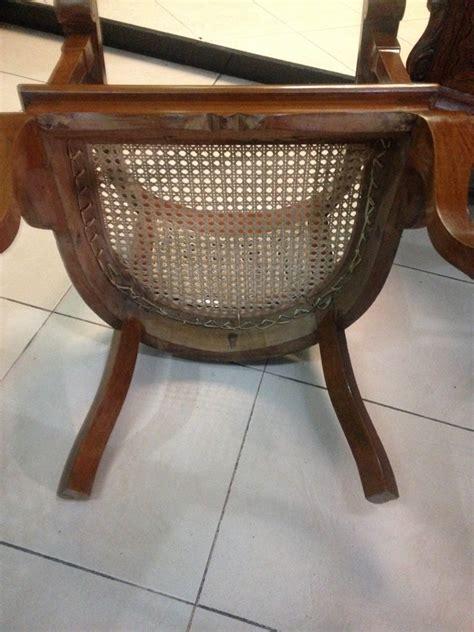 Kursi Bambu Satu Set Semarang kursi lenong satu set kaki kambing