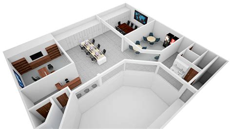home office design planner floor plan rendering cg frame services office isometric