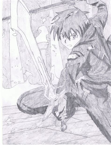 drawing and painting free sao kirito s dual wield by amidarax on deviantart