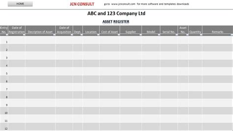 fixed asset register excel template 8 best images of asset list template excel asset