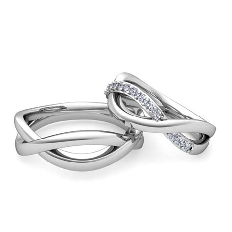 Wedding Rings Infinity Band by Matching Wedding Bands Infinity Wedding Ring In