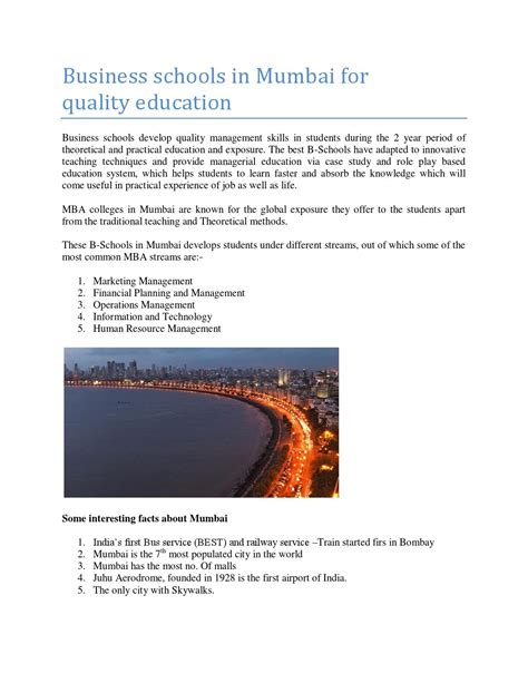 Mba In Quality Management Mumbai by Business Schools In Mumbai For Quality By Kirti Sharma Issuu