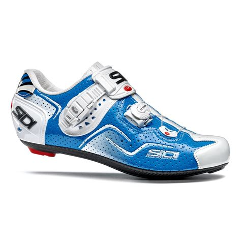 sidi kaos air cycling shoes blue white probikekit uk