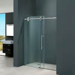 clear glass shower doors vigo vg6041chcl4874 48 quot w x 74 quot h frameless clear glass