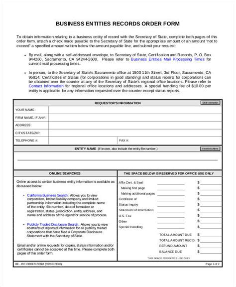 format html entities 8 sle business order form free sle exle