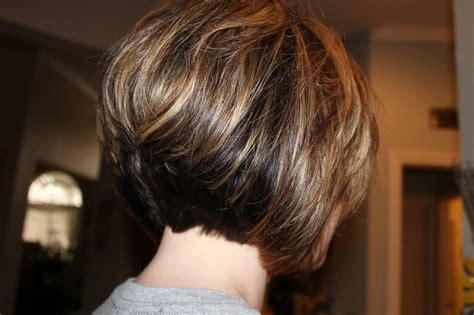 stacked or layered hair short layered stacked bob hairstyles back view hair