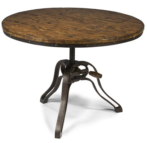 industrial style cocktail table with adjustable