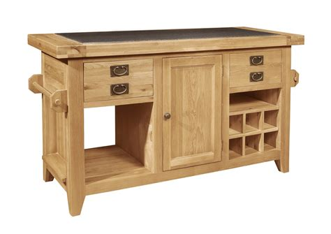 kitchen island unit panama solid oak furniture large granite top kitchen