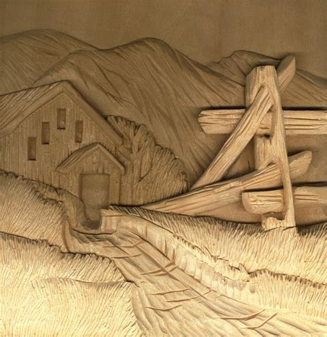adding dramatic shadows  relief wood carving project