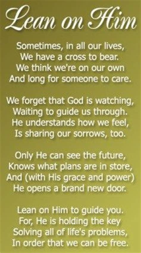 is he on me a â s guide top 25 best christian poems ideas on trusting