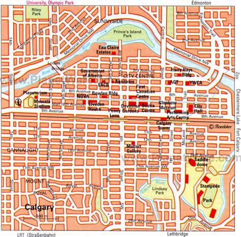 calgary city map streets detailed city map of calgary map