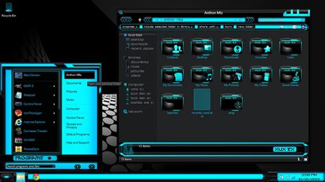 desktop themes des download windows 8 black theme windows 8 themes black blue xux ek by newthemes on deviantart