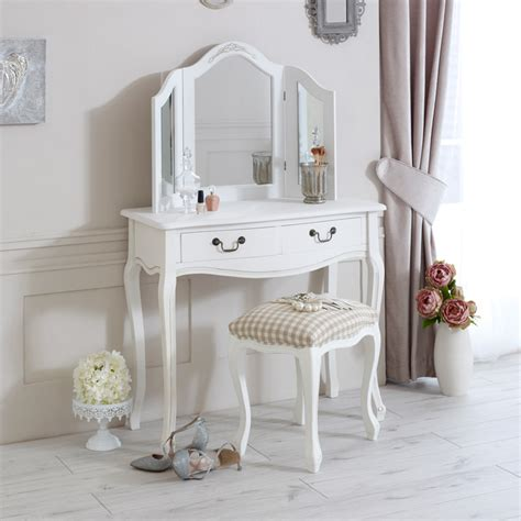 classic white bedroom furniture classic white dressing table mirror and stool set