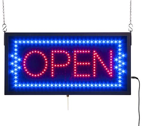 Led Sign Open bright led open signs window hanging neon display