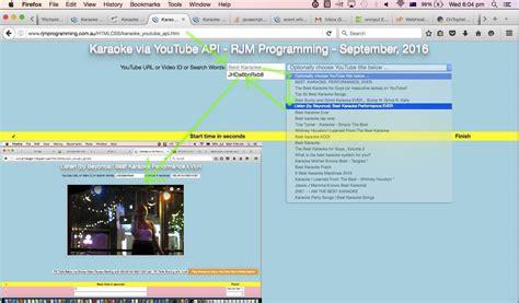 tutorial jquery api karaoke via youtube api in iframe microphone tutorial