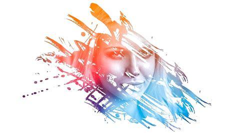 tutorial photoshop painting effect photoshop amazing photo effects paint splash on face