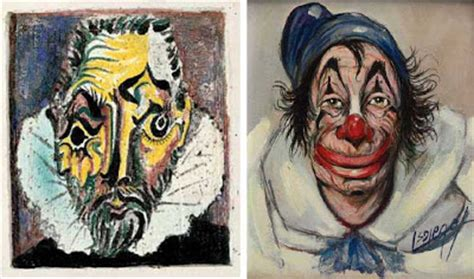 picasso paintings clowns gurney journey picasso pair ups