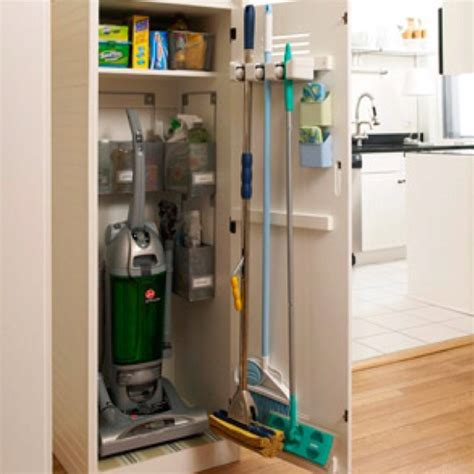 Vacuum Cleaner Storage Cabinet Broom Closet Organization There S Never Enough Room So